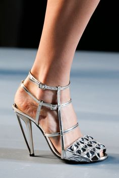 Fendi Spring 2014 Ready-to-Wear Collection Slideshow on Style.com. The perfect metallic shoe.