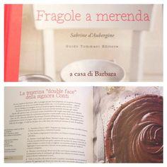 """""""Fragole a merenda"""" a casa di Barbara, che ha deciso di iniziare con il cioccolato: """"La tenerina double face della signora Conti""""...   #quifragoleamerenda"""