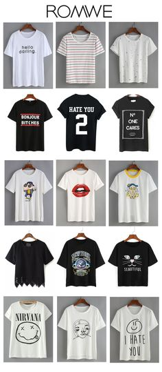 Really really need a lot of T-shirt like this for coming summer. These are nice ones i pick from romwe.com. Meet almost all your style need. Sale from US$6.99.