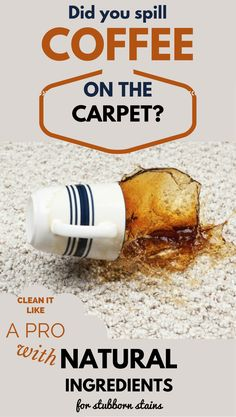 Did you spill coffee on the carpet? Clean it like a pro with Natural Solutions for stubborn stains