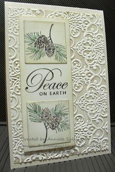 Gorgeous Brocade Peace Card...