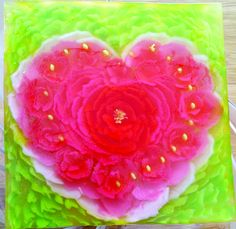 heart roses art jelly