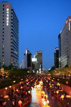 korea, asia, seoul, south korea, night, city, lights city