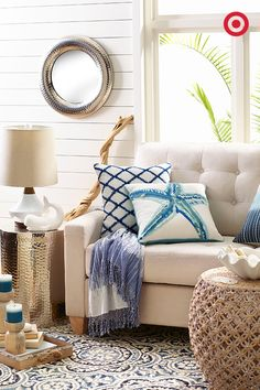 Create a crisp sophisticated look for your home with intricate textures and pops of color. Make wicker a focal texture to your living room to add dimension and depth to a neutral design. Our wicker ottoman doubles as a décor accent piece and a storage hub for books and/ or your infamous seashell collection!
