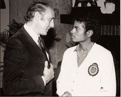 Famed composer Henry Mancini and Michael :) - Cuteness in black and white ღ  by ⊰@carlamartinsmj⊱