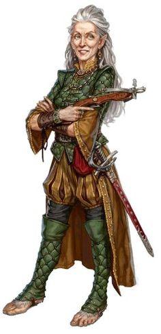 High Halfling Elder Aerni Brightcaster of Ash-Hearth