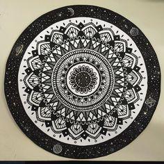 provocative-planet-pics-please.tumblr.com 12/366 #mandala #drawing #art #stars #planets #universe by sara_peace https://www.instagram.com/p/BAcBwvUvV4N/