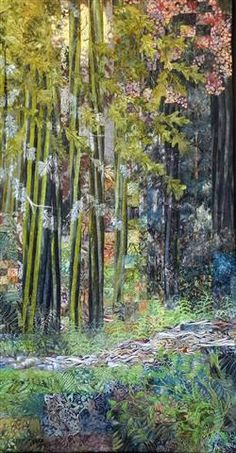 The Lovely Woods.  A landscape quilt by Eileen Williams