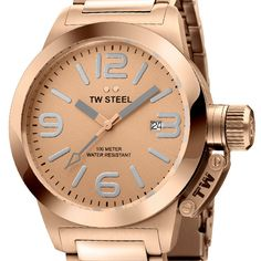 TW Steel Canteen Watch in Rose Gold