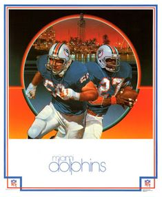 1970 s Miami Dolphins Poster 25c7c4578