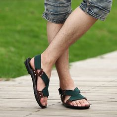ZNPNXN Summer Sandals Men Designers Sandalias Hombre Beach Shoes Men'S Sandals Brand Leather Sandals For Men Shoes Zapatos 2016