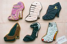Don't forget to make high heel shoe cookies...thousands of designs!!!  Google Image Result for http://theartofthecookie.com/wp-content/uploads/2011/04/Fancy-Shoe-Cookies.jpg