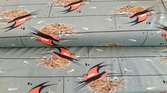 "Birch Fabrics ""Barn Swallow""; Baumwolle mint"