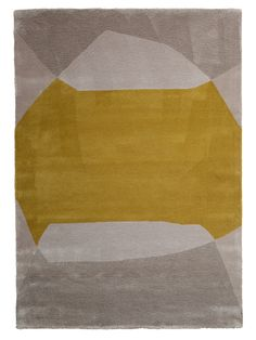 Dawn Yellow Hand tufted with Wool and Linen