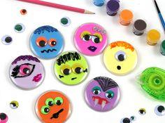 Button Monster Kids Craft
