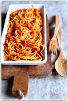 The Italian Dish - Posts - From Rome - Bucatini all'Amatriciana