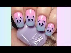 Designs - The most beautiful nail models Girls Nail Designs, Best Nail Art Designs, Nail Designs Spring, Trendy Nail Art, Easy Nail Art, Cool Nail Art, Simple Acrylic Nails, Simple Nails, Nail Logo