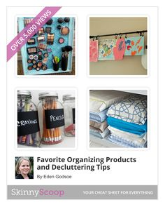 20 Organizing Products and De-Cluttering Tips