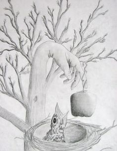 Surrealistic Hand Landscape Lesson from Digication e-Portfolio :: erin evans :: Drawing