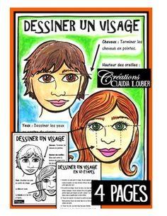 Workshop: How to Draw a face: Art Lesson Art Sub Plans, Art Lesson Plans, Drawing People Faces, Led Pencils, Atelier D Art, Enrichment Activities, Ecole Art, Art Classroom, Classroom Ideas