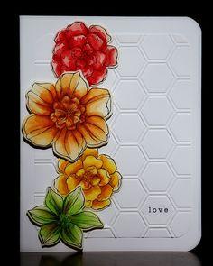 Secret Garden with HoneyComb embossing Card