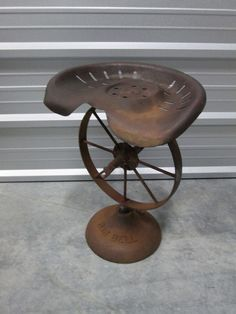Vintage Fordson Tractor Seat Stool Rustic Steel Americana Metal Folk Art Decor in Primitives | eBay