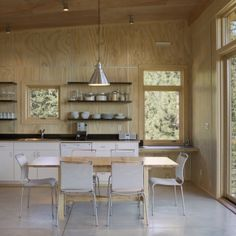 Wood makes a truly unusual statement for any kitchen. By: Balance Associates Architects (Cultivate.com)