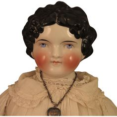 1870s Kling Dolley Madison China Head Doll 28 inch from virtu-doll on Ruby Lane