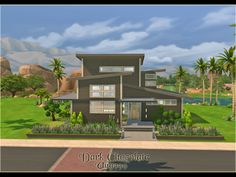 Dark Chocolate house by ung999 at TSR via Sims 4 Updates