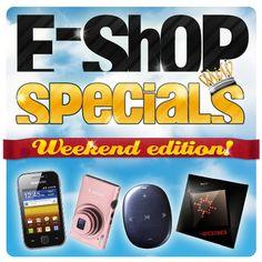Oι αγαπημένες σας προσφορές e-shop specials είναι πλέον κοντά σας και τις 7 μέρες της εβδομάδας! Ένα νέο προϊόν σε εκπληκτική τιμή κάθε μέρα στις 12:00, τώρα και τα Σαββατοκύριακα, με τα e-shop specials weekend edition! Arcade Games, Physics, Spaces, Digital, Shopping