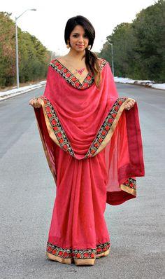 Wrap Me Pretty: The Top 9 Ways to Drape a Sari - The Aerogram Saree Wearing Styles, Saree Styles, Beautiful Hijab, Beautiful Outfits, How To Wear A Sari, Saree Dress, Dhoti Saree, Lehenga, Stylish Sarees