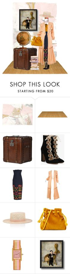 """""""Walking Her Own Dusty Path"""" by puellasum ❤ liked on Polyvore featuring Valentino, Rick Owens, Janessa Leone, Clare V. and Jack Rabbit"""