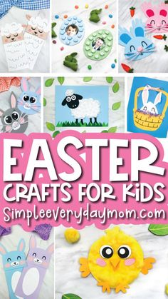 Easter Arts And Crafts, Easter Activities For Kids, Easter Crafts For Kids, Kindergarten Activities, Craft Activities, Preschool Crafts, Easter Ideas, Sheep Crafts, Bunny Crafts