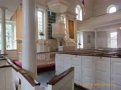 Sitting in George Washington's pew at Christ Church in Alexandria, Virginia