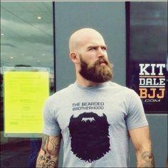 Shaved Head With Beard - 90 Beard Styles For Bald Men Bald Men With Beards, Bald With Beard, Great Beards, Full Beard, Awesome Beards, Bald Guy, Bart Styles, Shaved Head With Beard, Sexy Bart