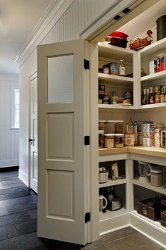 Beautiful Pantry Ideas Small Kitchen Diy Pantry 51 of Kitchen Pantry Designs & Ideas Kitchen Pantry Doors, Kitchen Pantry Design, Diy Kitchen Storage, New Kitchen, Kitchen Ideas, Kitchen Pantries, Kitchen Cabinets, Kitchen Small, Farmhouse Pantry Cabinets