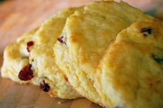 Cranberry Orange Scones - These were fantastic!  Perfect crumbley scone texture.  Recipe is adapted from The Barefoot Contessa.