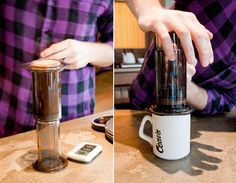 aeropress coffee maker. costs $26 and apparently tastes like coffee from a thousand-dollar espresso machine?