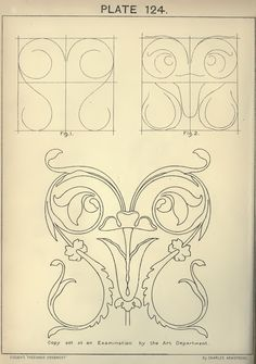 Cusack's freehand ornament, 1895. Plate 124