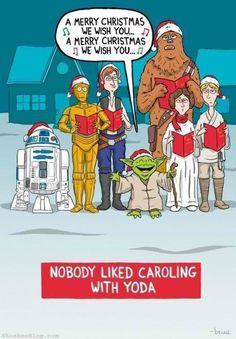 Caroling with Yoda!