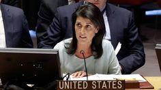 """Estados Unidos: """"#Venezuela debe renunciar del Consejo de Derechos Humanos hasta que pueda tener su casa en orden"""" """"A ningún país que es un violador de los #DDHH debería permitirse estar sentado en la mesa"""", afirmó la embajadora estadounidense en la #ONU, Nikki Haley"""