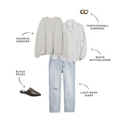Non-Boring Ways to Style Your Favorite Sweater   The Everymom Blazer With Jeans, Black Skinnies, Work Wardrobe, Capsule Wardrobe, Wardrobe Ideas, Winter Wardrobe, Mom Outfits, Travel Outfits, College Outfits