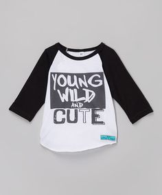 Look what I found on #zulily! Black 'Young' Raglan Tee - Infant, Toddler & Kids #zulilyfinds