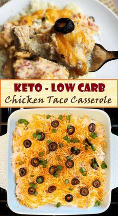 Easy Chicken Taco Casserole - Keto - Low Carb - Recipes Otomotive