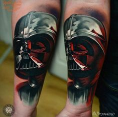 Star Wars Tattoo by AD Pancho. #inked #inkedmag #tattoo #art #starwars #darthvader #amazing