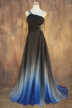 Gradient Color Prom Dresses,Sweethe