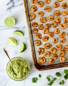 Easy Spicy Shrimp Guacamole Bites