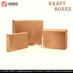 Get Custom Printed Kraft Boxes UK. We offered top quality printing and packaging solution to our customers. Box Design, Free Design, Kraft Packaging, Kraft Boxes, Packaging Solutions, Product Packaging, Retail Shop, Printing Services, Purpose