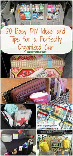20 Easy DIY Ideas and Tips for a Perfectly Organized Car - Very good ideas!!