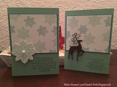 Stampin Up, Weihnachts Karte, Weihnachten, Christmas Card, Flockenzauber, Snow Flake, Schneeflocken, Zauber der Weihnacht